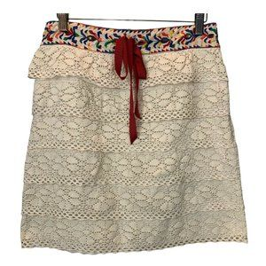 Anna Sui Anthropologie  Skirt Medium Embroidered